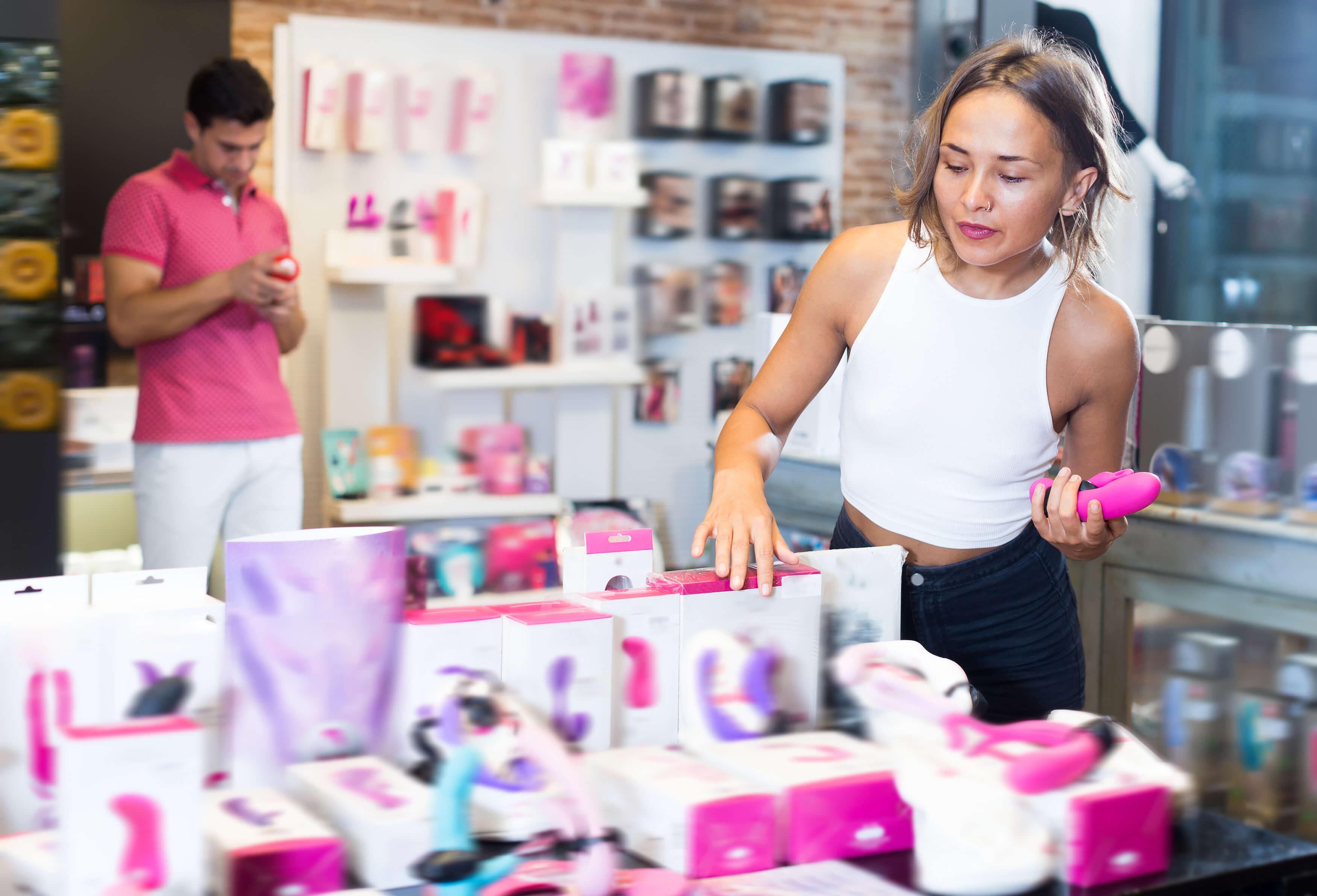 Apresentação de produtos de sex shop